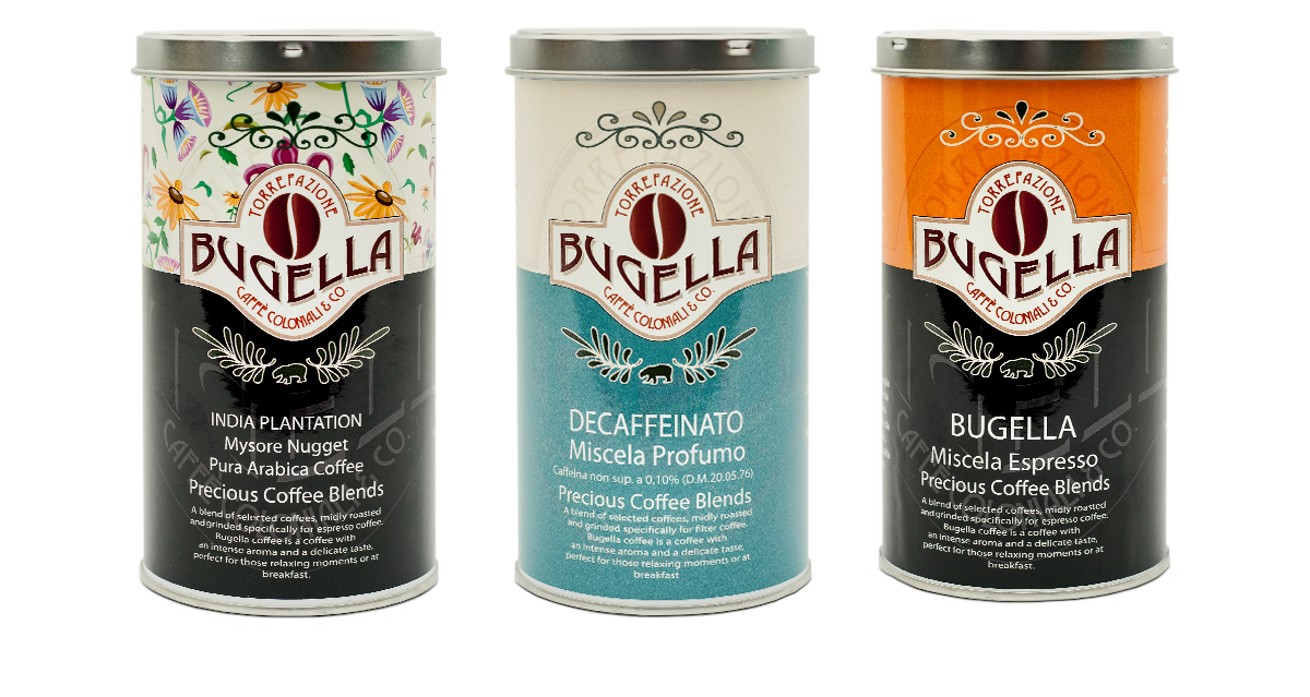 Bugella Kaffee drei Sorten