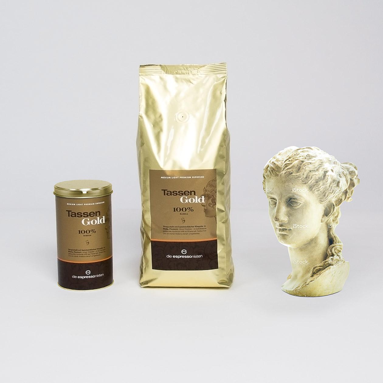 Tassengold Skulptur