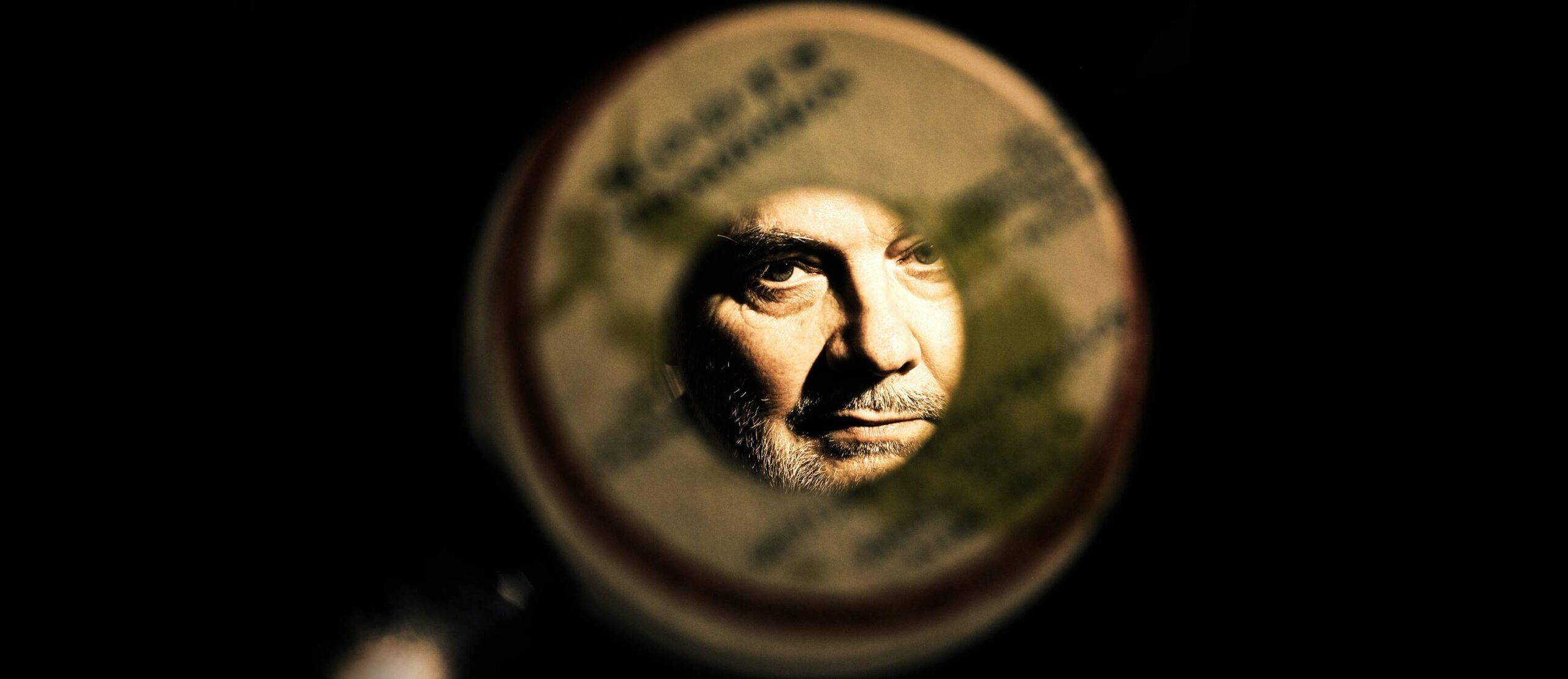 John Peel Blick durch Platte