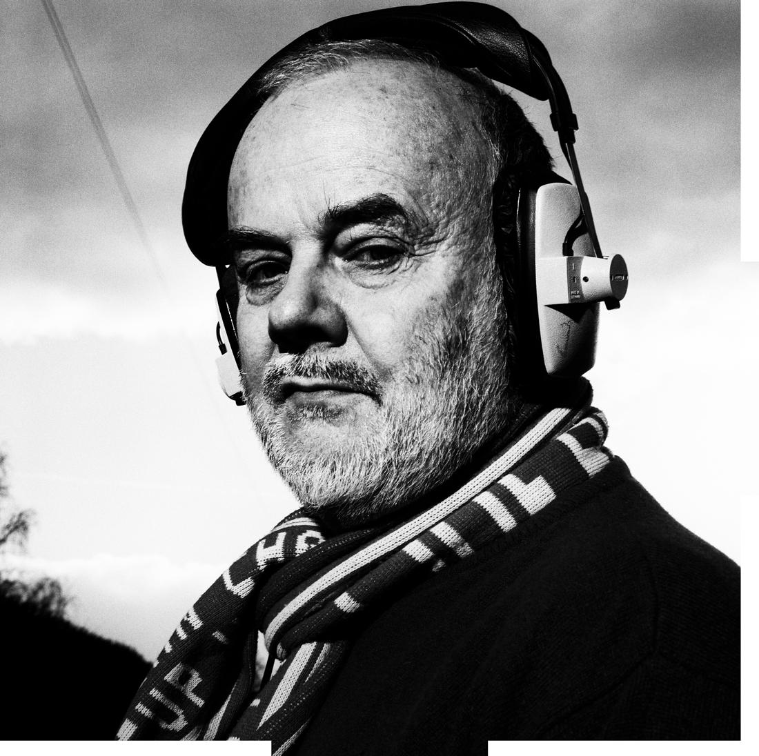 John Peel Porträt schwarz weiß